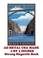 SM245- Hoover Dam Travel Poster 2 by 3 Inch Metal Refrigerator Magnet