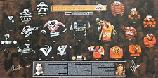 New Pride of Wests Tigers Wayne Pearce Arthur Summons Hand Signed Lithograph