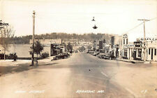 RPPC Antique Postcard Main Street Branson Missouri Hotel Malone Cars Drug Store