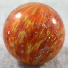 """LARGE EARLY GERMAN END OF DAY ONIONSKIN MARBLE w/ MICA > 1 11/16"""" 1.693"""" Damaged"""