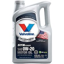 NEW Valvoline 0W 20 SynPower Full Synthetic Motor Oil  5qt 813460 FREE SHIPPING