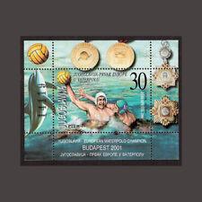Yugoslavia 2001 s/s souvenir sheet ** MNH waterpolo