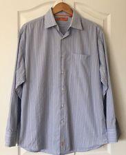 Sette Ponti Men's Size Large Blue/White/Yellow/+  Striped Long Sleeved Shirt