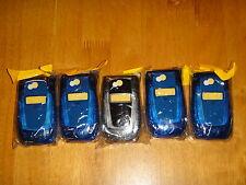 LOT OF 5-NEW MOTOROLA NEXTEL i850 BLUE CLEAR SMOKE HOUSINGS L@@K!!!!!