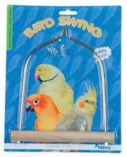 COCKATIEL LOVEBIRD PARAKEET WOODEN 19 CM HANGING BIRD CAGE SWING 21051