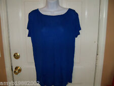Hollister Blue Back Scoop Shirt Size L Women's NEW LAST ONE HTF