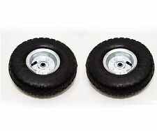 """2X New Replacement 10"""" Pneumatic Trolley Wheel Cart Barrow Truck Sack Tyre Tyres"""
