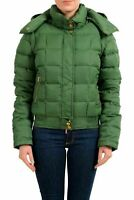 Just Cavalli Green Detachable Sleeves Women's Down Parka Jacket US S IT 40