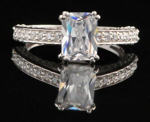 D/VVS1 Fancy Shape 2.30 Carat Solitaire Anniversary Ring In Real 14KT White Gold
