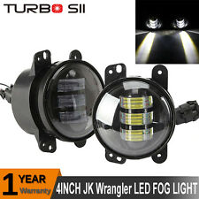 Pair 4'' Inch Round CREE 30W Front Bumper Fog Light Kit for Jeep Wrangler 07-15