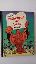 """Gotlib    """" Rubrique-à-Brac """"     Tome 2"""