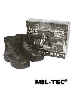 Mil-Tec SECURITY HALBStiefel Schuhe SCHWARZ Stiefel Schuhe