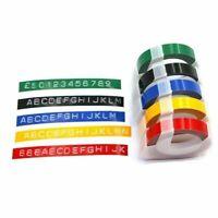 "Label Tape Refill for Dymo 3D Plastic Embossing Tape Xpress Label Maker 3/8"""