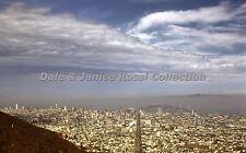 CA029 San Francisco Bay Area Aerial View 1956 Red Border Kodak Transparency