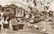 RPPC,St.Ives,Cornwall,U.K.Harbour with Seagulls,c.1909