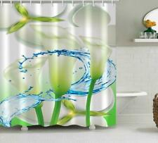 Shower Curtain Shower Cover Liner Bathroom Attachment Flower Digital Painting