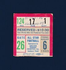 1965 College football All-Stars vs Cleveland Browns football ticket stub