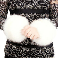Winter Boot Cuff Fluffy Soft Furry Faux Fur Leg Warmers Boot Toppers White 15cm
