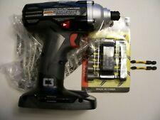 "CRAFTSMAN 19.2V 1/4"" HEX IMPACT DRIVER  BARE TOOL & 14 Pc.  nut driver set  2 #2"