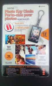 """Superex Digital Photo Key Chain 1.8"""" LCD Screen Up to 94 Photos TFT Technology"""