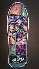 HOSOI Stained Glass Skateboard Deck Shaped Sticker - over 7""