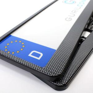 Carbon Look Kennzeichenhalterung, Nummernschildhalter - EU-Norm -  2 Stück