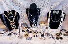 Vintage & Modern B&W Costume Jewelry Lot
