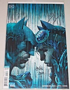 Batman #50! (2016) Jim Lee Variant! Signed by Tom King & Mikel Janin! NM! COA!