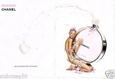 Publicité Advertising 2011 ( pages) Eau de parfum Chance par Chanel
