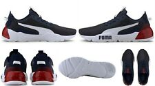 PUMA men's $80 Visible Cell Phase Cushioning Running Shoes Dark Gray-Red size 11