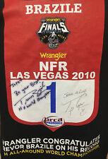 Rare Wrangler Brazille Signed Las Vegas PRCA Pro Rodeo T Shirt