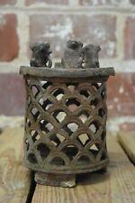 Vintage Cast Iron Candle Candlestick Holder /Incense Burner with Animals