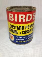 Bird's Custard ,vintage Tin cardboard Can advertising, kitchen collectible,litho