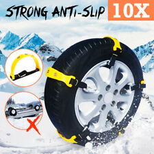 10PCS a Set Car Snow Tyre Chains Belt Beef Tendon Wheel Anti-skid TPU Chain