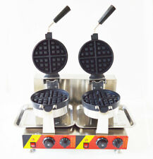 Nonstick Electric Dual Rotary Waffle Baker Maker Machine 110V Waffle Machine