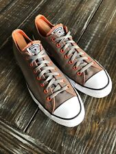 Converse All Star Sneakers Gray Orange Lace Up Shoes 152621C Mens Size 11.5