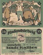 Kallies Notgeld: 672.1 Notgeldschein der Stadt Kallies bankfrisch 1921 75 Pfenni
