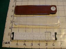 vintage Slide Rule: PICKETT model 61, plastic in case