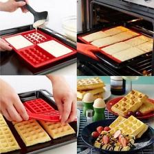 Seguridad 4-cavity Gofres Pastel Chocolate pan molde silicona Para Hornear
