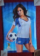 Sexy Girl Beer Poster Miller Lite ~ Latina Soccer Player Concacaf Liga Campeones