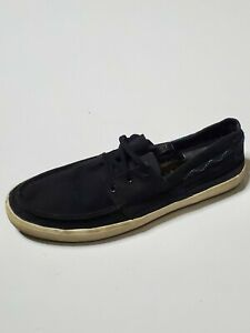 Tretorn Mens Shoes Black Canvas Slip On Round Toe Comfort Casual Pull On Size 11