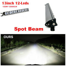 1x 13 INCH 120W 4D LED Light Bar Spot Beam Driving Fog Lamp Boat Truck 6000K