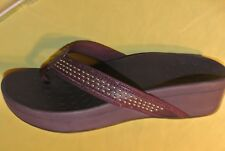 womens  Vionic BURGUNDY Studded Thong wedge Sandals  size 10 W New