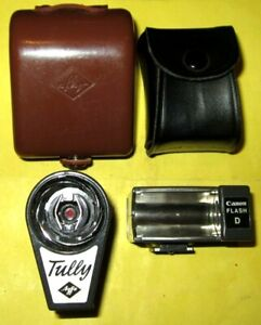 2 x Vintage Bulb Flash Units in original Cases  Agfa Tully AND Canon Flash D