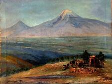 1970 Mt ARARAT Արարատ ARMENIA Landscape oil Art Painting RUSSIAN ARMENIAN Artist