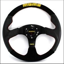 Car Steering Wheel 14 Inch Carbon Fiber Pvc + Suede Leather 350 Mm Racing Steeri