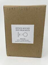 Restoration Hardware Estate Round End Brackets 11/4� Rod