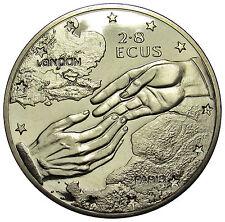 Gibraltar 2.8 ECU s coin 1994 km#484 Euro Tunnel hands UNC  DE03