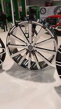 22 Inch Velocity V12 Chrome wheel Rims & Tires Fit 5 X 115