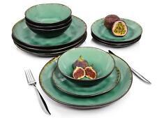 Sänger Dinner Service Palm Beach Porzellan Teller Set Schalen 550 ml 12 teilig